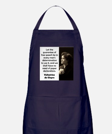 Let The Guarantee Of Free Speech - de Cleyre Apron