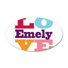 I Love Emely Wall Decal