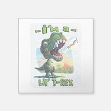 "New Lil' T Rex Square Sticker 3"" x 3"""