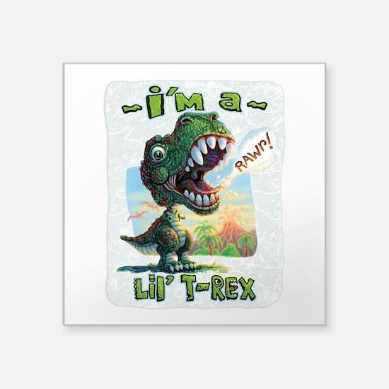 """New Lil' T Rex Square Sticker 3"""" x 3"""""""
