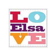 """I Love Elsa Square Sticker 3"""" x 3"""""""