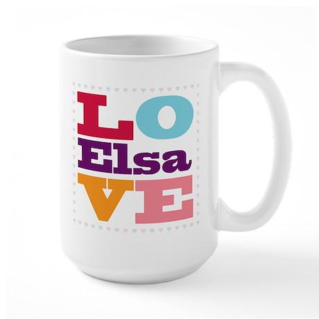 I Love Elsa Large Mug