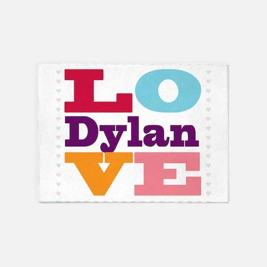 I Love Dylan 5'x7'Area Rug
