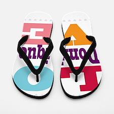 I Love Dominique Flip Flops