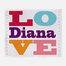 I Love Diana Throw Blanket