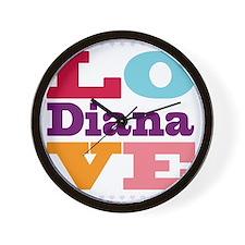 I Love Diana Wall Clock