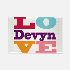 I Love Devyn Rectangle Magnet