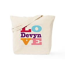 I Love Devyn Tote Bag