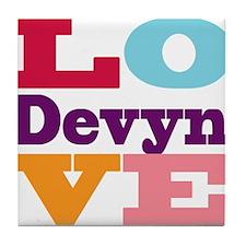I Love Devyn Tile Coaster