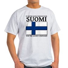 Lucky Enough To Be Suomi Finnish Shirt T-Shirt