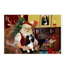 Santa's Tri Cavalier Postcards (Package of 8)