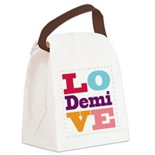 I Love Demi Canvas Lunch Bag