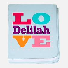 I Love Delilah baby blanket