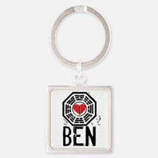 I Heart Ben - LOST Square Keychain