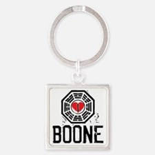 I Heart Boone - LOST Square Keychain