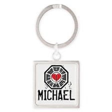 I Heart Michael - LOST Square Keychain