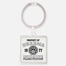 Property of Dharma - Flame Square Keychain