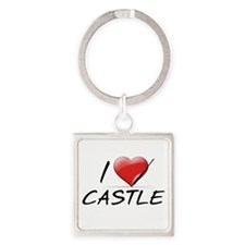 I Heart Castle Square Keychain