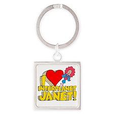 I Heart Interplanet Janet! Square Keychain
