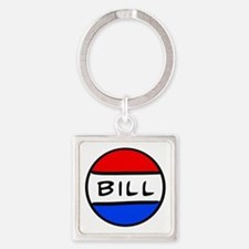 Bill Button Square Keychain
