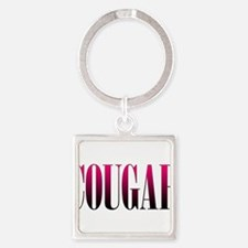 Cougar Square Keychain