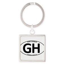 General Hospital - GH Oval Square Keychain
