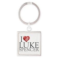 I Heart Luke Spencer Square Keychain
