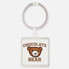 Chocolate Bear Square Keychain