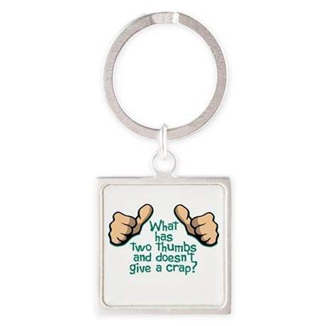 Two Thumbs Square Keychain