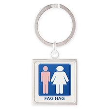 FAG HAG Sign Square Keychain