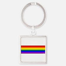 Rainbow Pride Flag Square Keychain