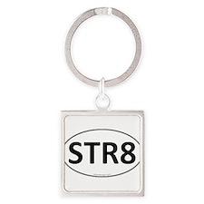STR8 Euro Oval Square Keychain