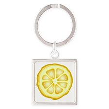 Lemon Slice Square Keychain