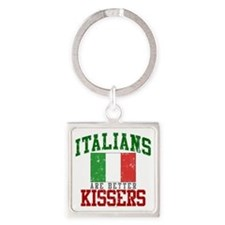 Italians Are Better Kissers Square Keychain