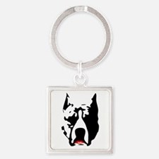 Pit Bull with L Square Keychain