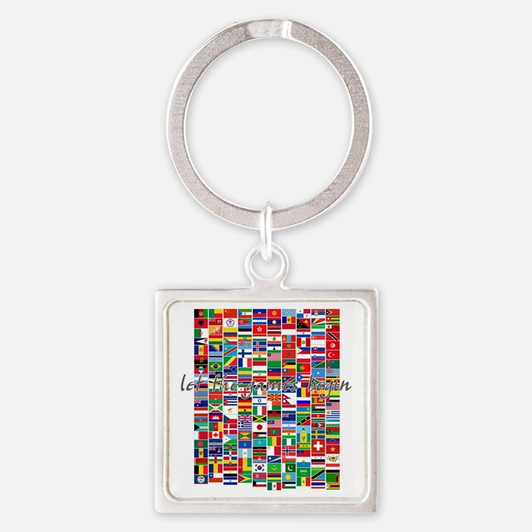 Let the Games Begin Square Keychain