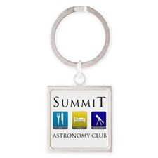Summit Astronomy Club Square Keychain