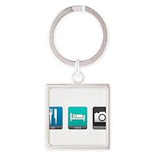 Eat, Sleep, Photography Square Keychain