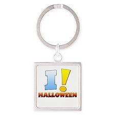 I ! Halloween Square Keychain