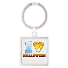 I Heart Halloween Square Keychain