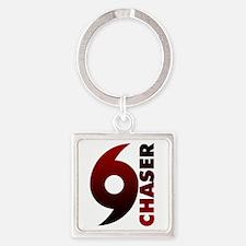 Hurricane Chaser Square Keychain