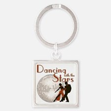 Retro Dancing with the Stars Square Keychain