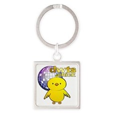 DWTS Chick Square Keychain