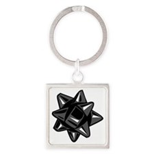 Black Bow Square Keychain