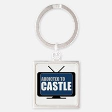 Addicted to Castle Square Keychain