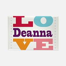 I Love Deanna Rectangle Magnet