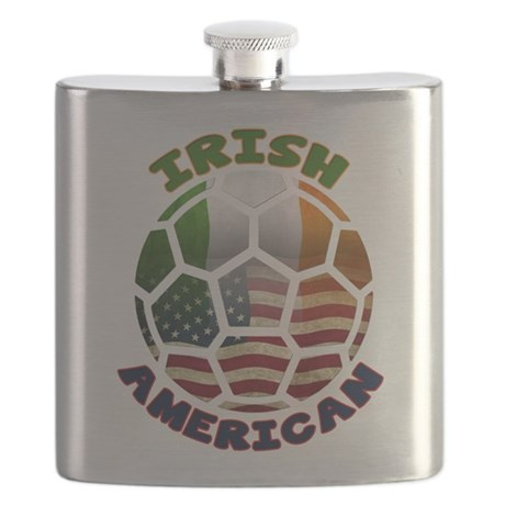 Irish American Soccer Fan Flask