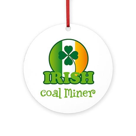 Irish Coal Miner St Patricks Ornament (Round)
