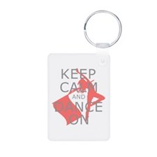 Colorguard Keep Calm and Dance On Meme Keychains