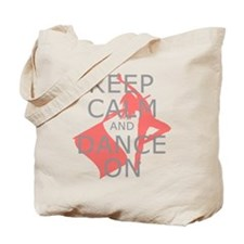 Colorguard Keep Calm and Dance On Meme Tote Bag